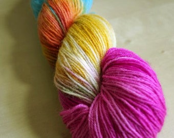 Beach Babe Blue Faced Leicester Sock Weight Yarn