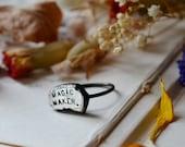 Magic Maker Molten Silver Ring