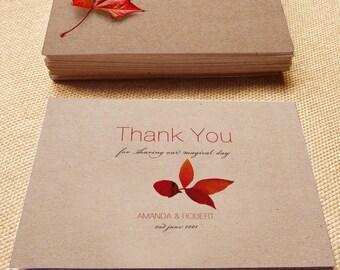 Printable Wedding Thank You Card, Fall wedding, DIY printable card, Print your Card, Printable thank you card, wedding card, autumn wedding