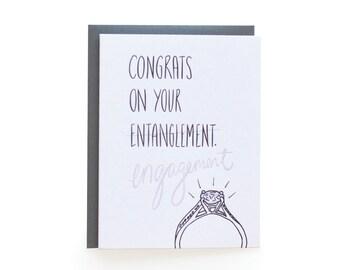 entanglement (single letterpress card)