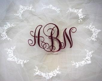 Monogrammed Illusion DIY veil