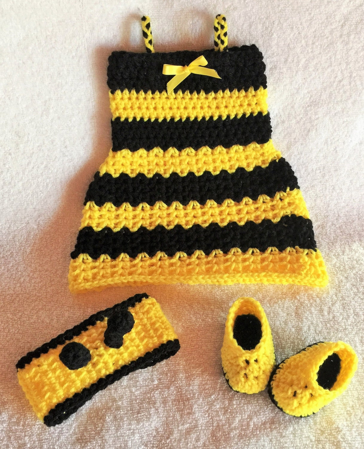 Honey Bee Outfit - Bumble Bee Costume - Newborn Halloween Outfit - Halloween Dress For Baby & Honey Bee Outfit - Bumble Bee Costume - Newborn Halloween Outfit ...