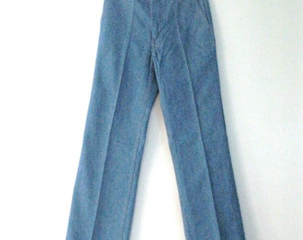 Vintage 70s orange tab Levis jeans / straight leg high waist denim Levis / Hippie Boho jeans / Unisex  31 x34