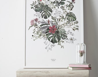 Seasons Collection Summer Tropical Bloom Print