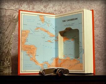 Hollow Book Safe & Flask (Caribbean)