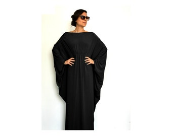 Oversize Black Dress, Long women dresses, Summer womens dresses, Black maxi dress, Womens Dresses