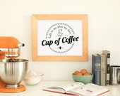 Coffee Sign, Talk To Me After My First Cup of Coffee Print - PRINTABLE, Instant Download, Kitchen Art, Office Art, Coffee Poster, 3 Sizes