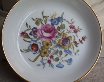 Royal Worcester Bournemouth/Avon Coaster/English Flower Garden Vintage dish