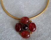 Classy in Amber Diva Woman Pendant/Brooch - Gold Omega Necklace -Stunning and Versatile