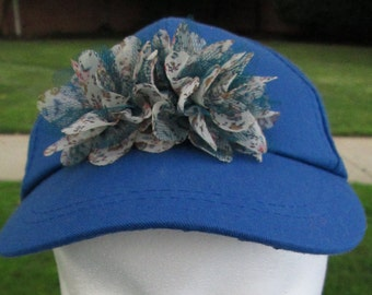 Charlie Brown Blueberry Flowers Diva Baseball Cap - Whimsical - Cute - Conversation Piece