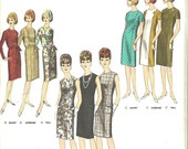Vogue 3022 / Vintage 60s Sewing Pattern / Proportioned Fit / Sheath Dress / Size 16 Bust 36