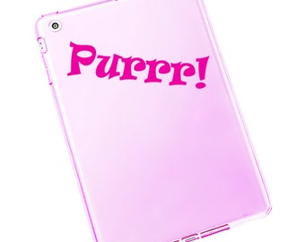 Purrr Vinyl Decal / Purr Window Sticker / Purrr Laptop Decal #624