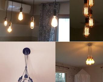 5 pendant light cluster hanging pendant light industrial chandelier ceiling fixture antique
