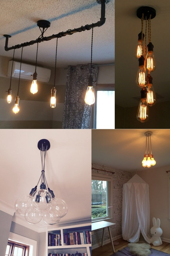 Like this item? & 5 Pendant Light Cluster Hanging Pendant light Industrial azcodes.com