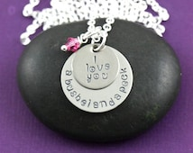 CLOSEOUT SALE - I Love You A Bushel and A Peck Necklace - Granddaughter Gift - Best Friend Jewelry - Friendship Birthday Gift - Memorial