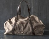 Waxed Canvas Weekender: Truffle by Peg and Awl