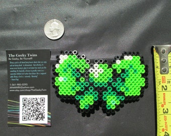 green hair bow, pixel bow, 8bit bow, geeky bow, nerdy bow, hair bow, nerdy accessories, geeky accessories, nerdy gifts, geeky gifts, gamer