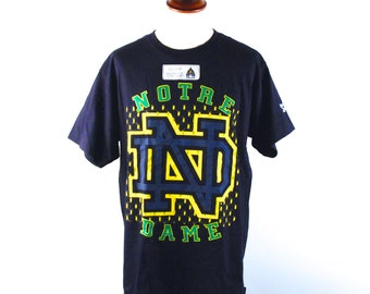 1990's University of Notre Dame T-shirt, Officially Licsensed Product by Reebok - Men's Large