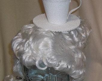 Teacup Fascinator- White Flowered