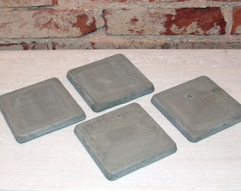Set of 4 Concrete Coasters (Standard)