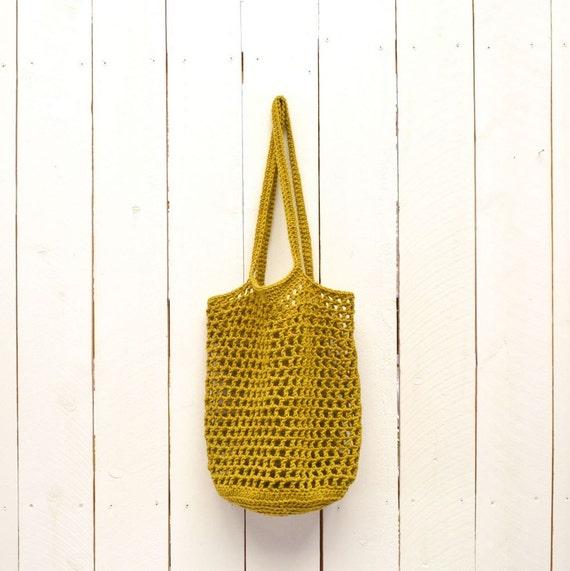 Crochet Bag Pattern Market Tote Shopping Bag Pattern PDF