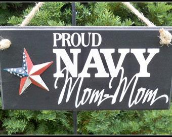 Us Navy Sign, military sign, Grandma gift, mom mom sign, Proud Navy Family, family sign, navy sign, grandmother gift, Navy mom mom