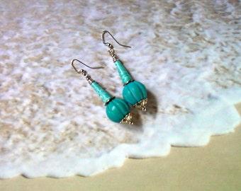Aqua Blue Earrings (2175)