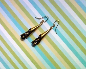 Metallic Brass and Gold Earrings (2249)