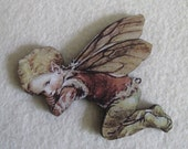 Last one- Sleeping Fairy Needle Minder with double magnet by cheswickcompany