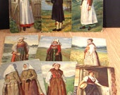 Antique Swedish Postcards, National Costumes, Traditional Clothing, Sweden, Artist Signed, Converged Commodities epsteam vestiesteam