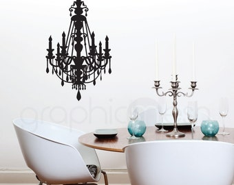 CHANDELIER WALL DECAL Removable vinyl art graphics - Interior decor