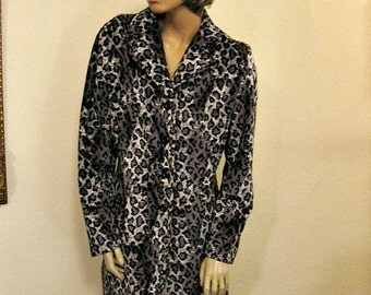 SALE Vintage 90's Chic Velvet Leopard Print Jacket by Evolution Not Revolution
