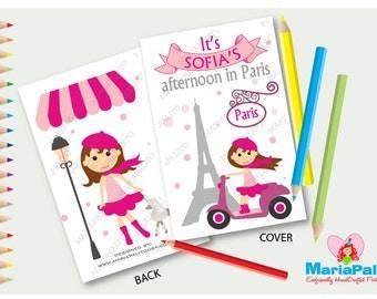 Paris Coloring Books, Afternoon in Paris, Paris Party Favors, A1208