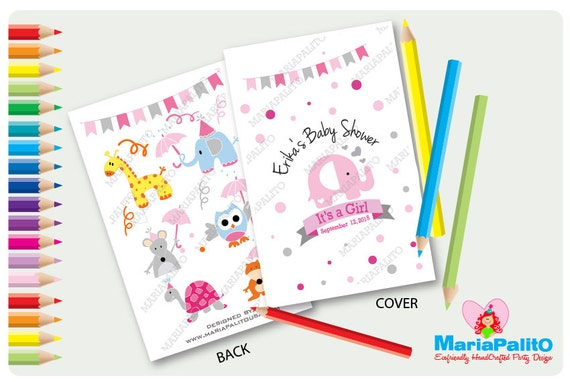 Elephant Coloring Books Baby Shower Coloring Books