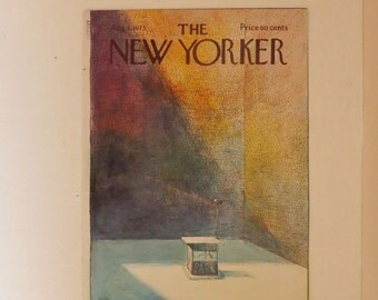 Vintage New Yorker Cover August 4 1975 by Arthur Getz