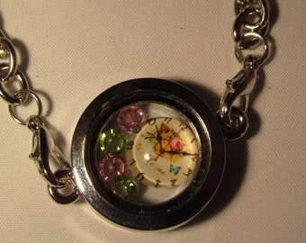 A Moment In Time Floating Lockets Bracelet