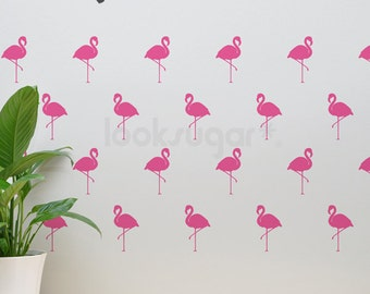 Flamingo Decals - Modern Home / Baby Nursery . Flamingo Removable Wall Pattern Decal - Flamingo Decals - AP0038TF