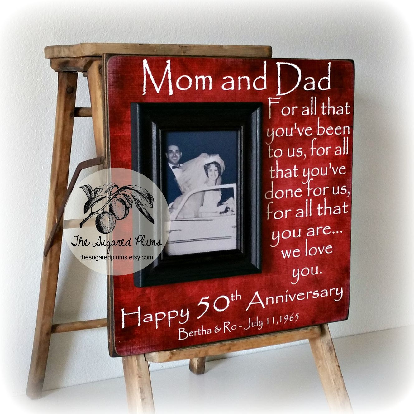 Unique Gifts 50th Wedding Anniversary : 50th Anniversary Gifts Parents Anniversary Gift For All That