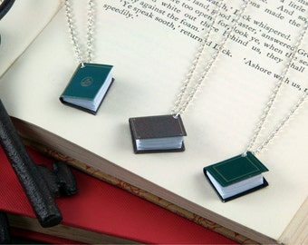 Miniature Book Necklace - Book Lover Jewellery - Librarian Gift