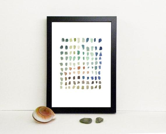 watercolor Modern minimalist print, little dots watercolor painting