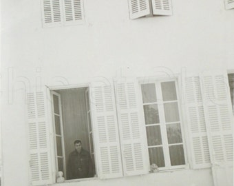 1960's Photograph - Man Stood in a House Window