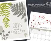 2016 PRINTABLE Nature Wall Calendar