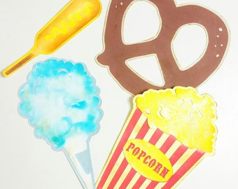 Carnival Food Photobooth Props - Decorative Party Decor