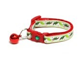 Christmas Cat Collar - Deck the Halls Holly - Kitten or Large Size