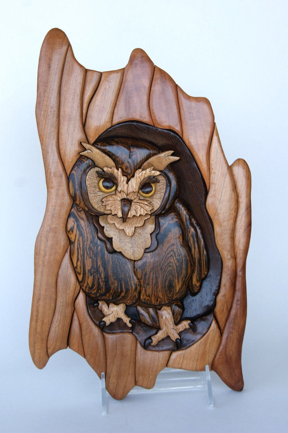 ... Wood Owl Animal Carving Wall Decor Home. 🔎zoom