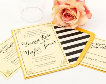 Modern Wedding Invitation Suite, Carolina Wedding Invitation - Purchase this deposit to  get started