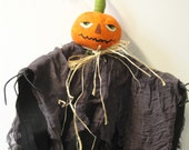 Halloween Pumpkin Art Doll Handmade Decorative Halloween Pumpkin