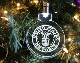 Lighted Air force ornament