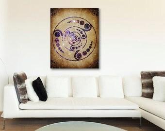 ON SALE 20% OFF The Harmonious Circle - stretched canvas print, crop circle art, bohemian art, crop circle print, large wall art, canvas art