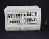 Vintage Radio Packard-Bell White Ivory Electric AM Model 5R1 Retro Decor